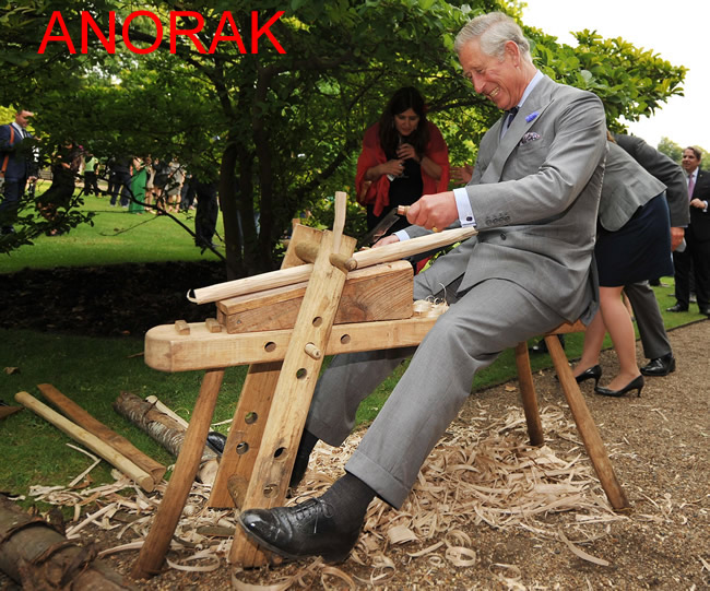 Anorak News Prince Charles Rides An Electric Bike And A Wooden