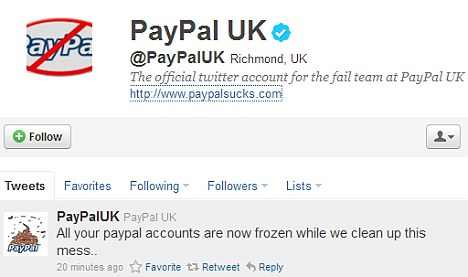 paypal  Hackers Hit PayPal On Twitter: Now To Break Into The News Of The Worlds Phones