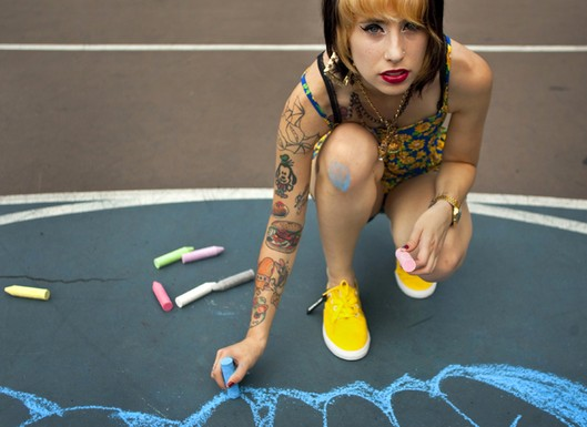 kreayshawn tattoos