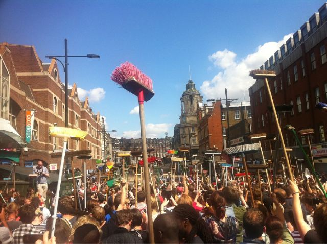 london reacts Londons Broom Revolution Erupts In Clapham: After Riot Party Photos