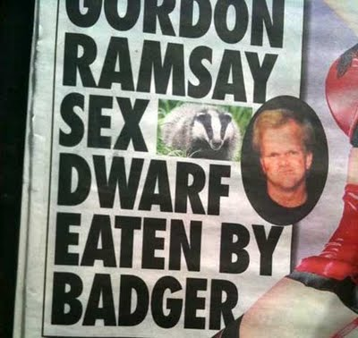 ramsay sex dwarf Gordon Ramsay Porn Dwarf Dead In Badger Lair