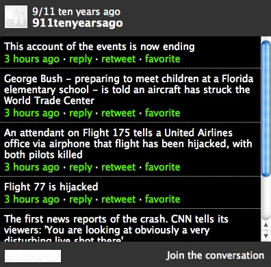 111 Guardian Tweets 9/11 Live On Twitter: Bad Taste Porn Crashes And Burns @AuschwitzLive