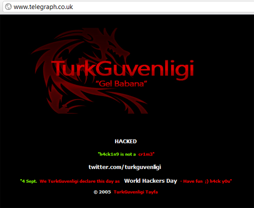 telegraph hack Turk Guvenligi Hacks Daily Telegraph And Other Websites