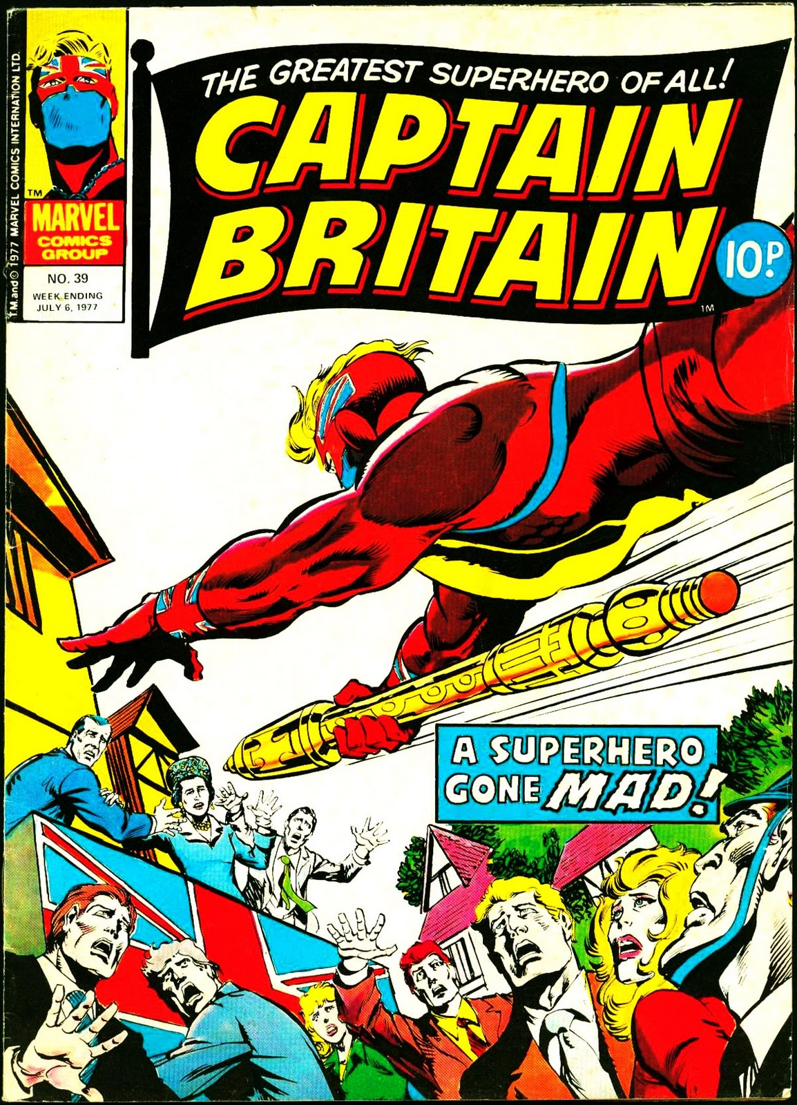 Captain Britain v1 39p1 Is The US Declaration Of Independence Legal? No, Says the British