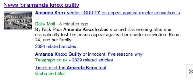 daily mail fail knox Daily Mail And Sun Say Amanda Knox Is Guilty: Race To Be First With News Shames Tabloids