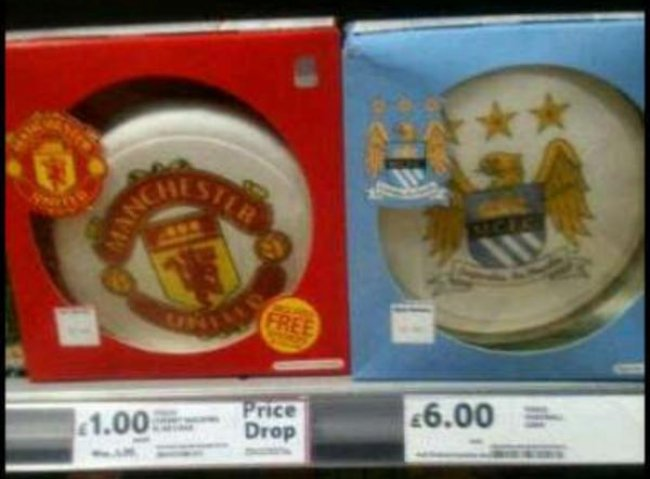 man city cake Tesco Offers Post Thrashing Discount On Manchester United Cake: Man Citys Still Expensive