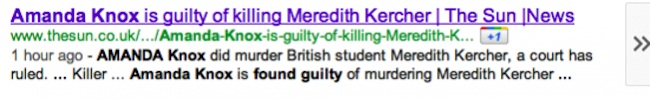 sun knox guilt 1 Daily Mail And Sun Say Amanda Knox Is Guilty: Race To Be First With News Shames Tabloids