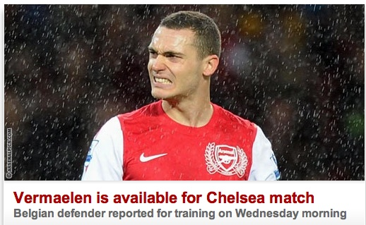 vermaelen Arsenals Thomas Vermaelen Is Both Injured And Uninjured In The Times And Daily Mail