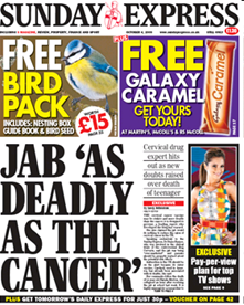 jab as deadly as cancer Scare Story: Daily Mails Lauren Paxman Says Lucy Hinks Waking Coma Was Caused By The Cervical Cancer Jab