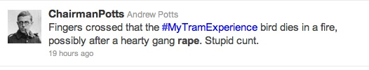 twitter rape Is Emma West A Victim Of A Twitter Hunt? Tweeters Want My Tram Experience Woman Raped, Shot And Knifed