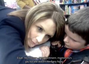 bachmann gay 300x217 Did Michele Bachmann Turn 8 Year Old Boy Gay? The Great Satan Caught On Camera
