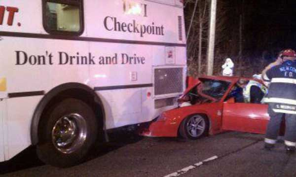 drink drive. drink drive Drunk Driver Slams Car Into Mobile Breath...