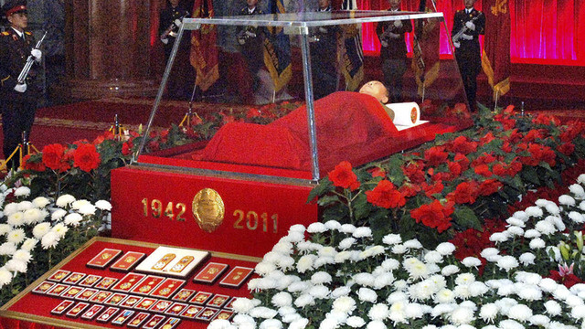 kim jong il dead 33 Sleeping Kim Jong il is laid out like a fairytale princess