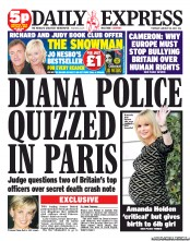 Daily Express diana First Daily Express Princess Diana front page of 2012   no new evidence shocker!