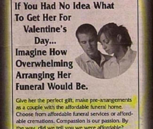 Funeral 3 The 10 best (worst) Valentines Day cards ever