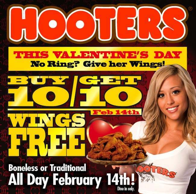 Hooters 3 The 10 best (worst) Valentines Day cards ever