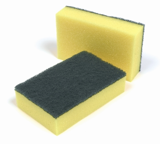 Black Kitchen Sponge Scrubber