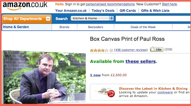 paul ross For sale: Box Canvas Print of Paul Ross (with added priceless comments)