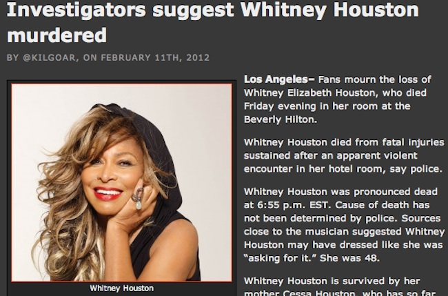 Whitney Houston 39 S Autopsy