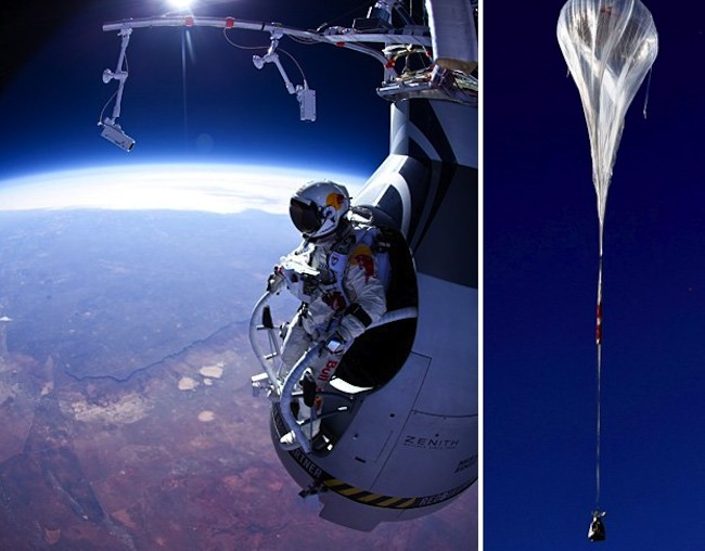 anorak felix baumgartner ready to jump from 120 000 feet. Black Bedroom Furniture Sets. Home Design Ideas