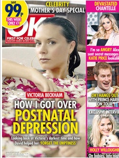 OK victoria depression1 Victoria Beckham gets postnatal depression for Mothers Day