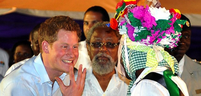 PA 12951361 Mek wih go paaty: Prince Harry hits Belize (photos)