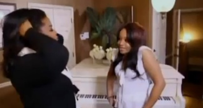 bobbi kristina Bobbi Kristina duets with Whitney Houston on Oprah Winfreys Milking records