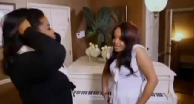 bobbi kristina Bobbi Kristina duets with Whitney Houston on Oprah Winfreys Milking records