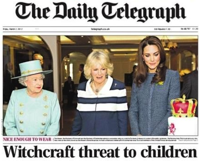 daily telegraph Daily Telegraph calls Kate Middleton a witch?