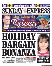 Daily Express Weekend newspaper front page Madeleine McCann at 8   photos and Sunday Express experts