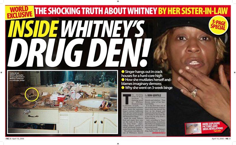 Whitney houston drug abuse