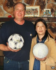 football Japanese teen reunited with football lost in tsunami