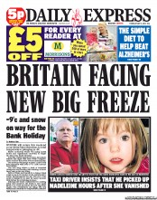 Daily Express newspaper front page1 Madeleine McCann: A PR mistake with Antonio Castela 