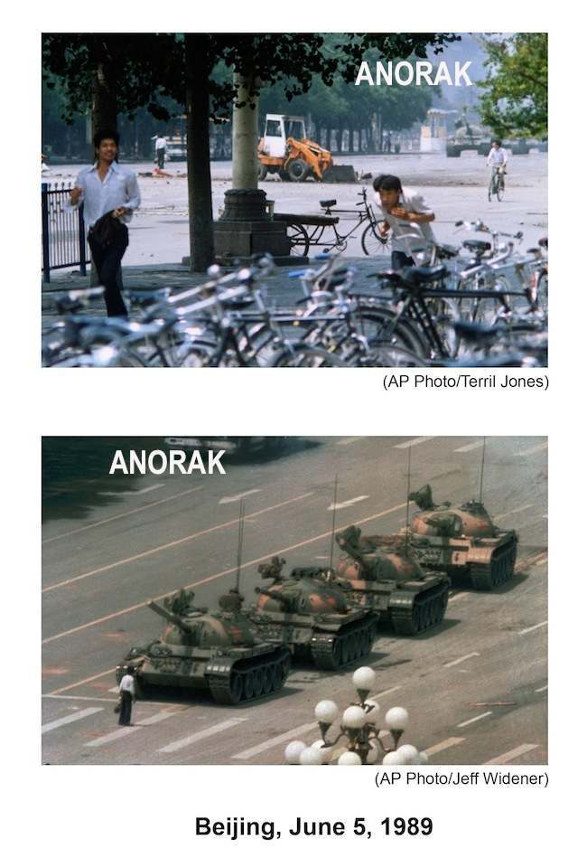 PA 7394800 June 5, 1989   The epic photo of the Tiananmen Square Tank Man