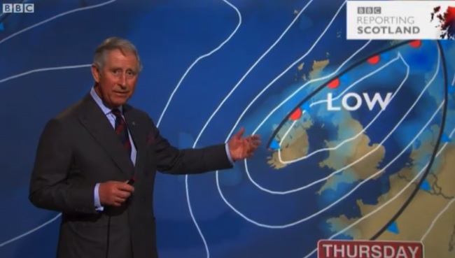charles weather Caption this   Prince Charles reads the BBC weather