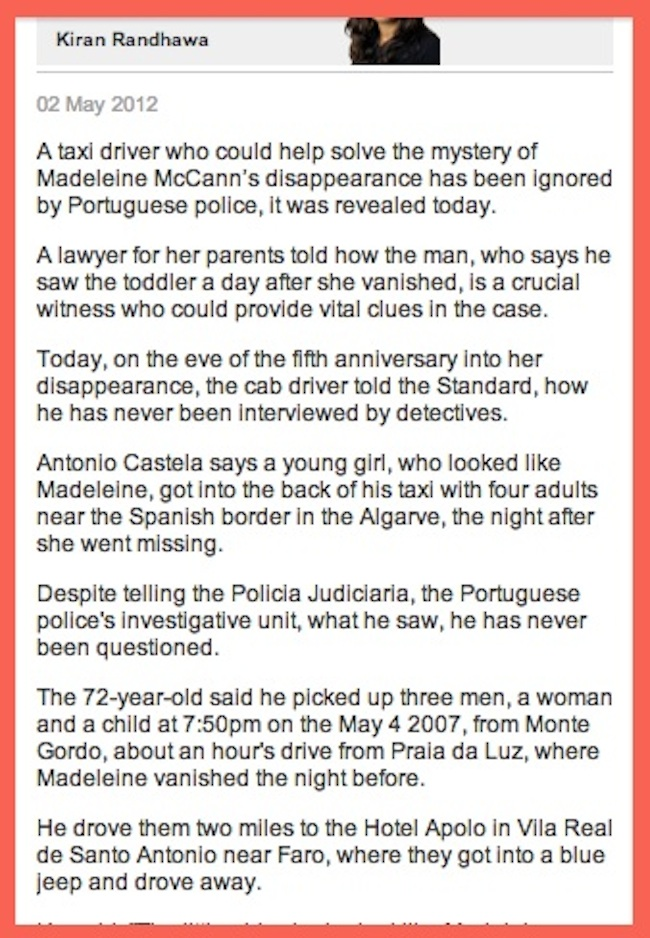 maddy 1 Madeleine McCann: A PR mistake with Antonio Castela 