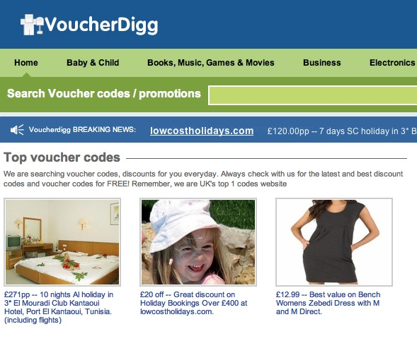 madeleine mccann voucher 1 Best Value Madeleine McCann is selling holidays on a travel site