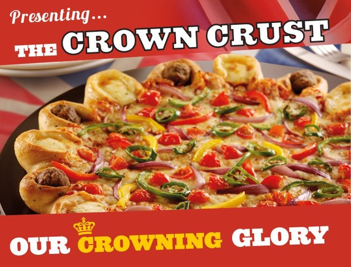 tribute Naff Diamond Jubilee tribute of the day   the Crown Crust Pizza