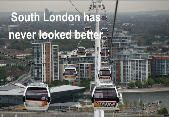 PA 13914846 2 The London Cable Car is open for tourists visting South London the long, slow and expensive way