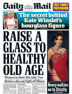 daily mail two drinks a day How much alcohol should you drink a day? The Daily Mail knows
