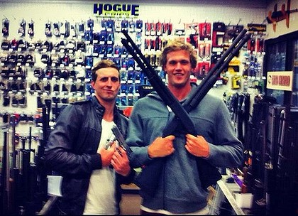 darcy monk Nick DArcy and Kenrick Monk: Olympic swimmers in gun toting stupidity massacre