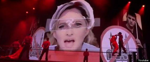 madonnalepen Madonna in trouble with the far right