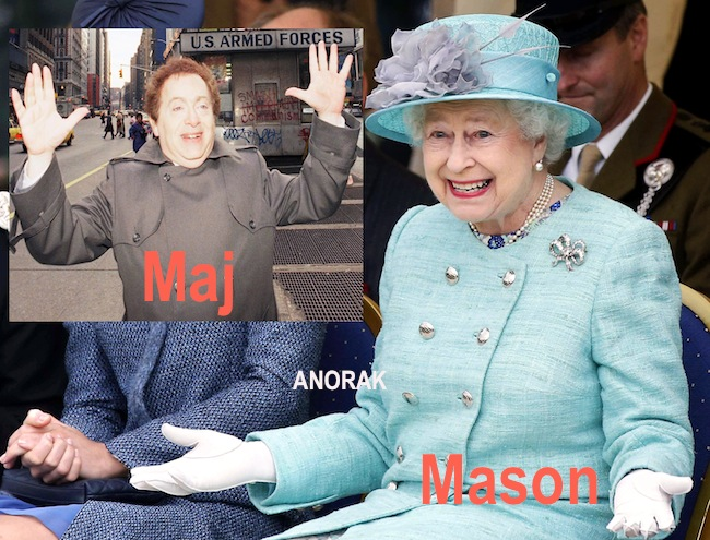 queen mason Queen Elizabeth does her Jackie Mason impression