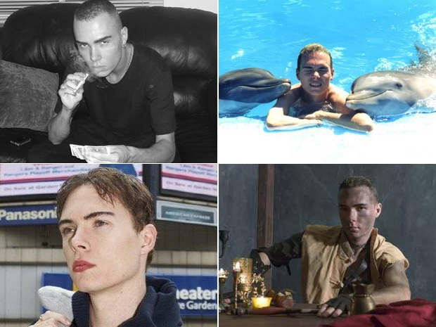 Luka Magnotta is swimming with dolphins and becoming a tabloid celebrity