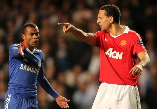 10498361 Rio Ferdinand calls Ashley Cole a choc ice   Liverpools Milky Bar Kid Kelly models on