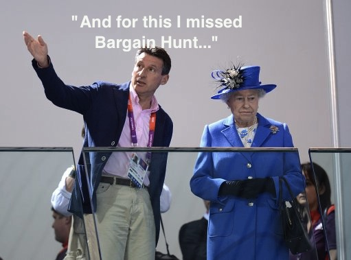  Queen embarrassed by Aquatic Centre at London 2012