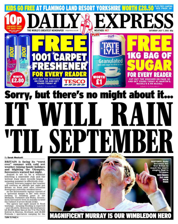 Daily Express summer weather report