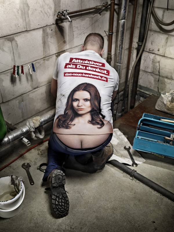 anorak news the plumber s cleavage t shirt is here to