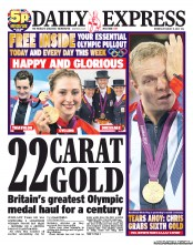 Those London 2012 gold medal are more Argos jewellery than 22 carats