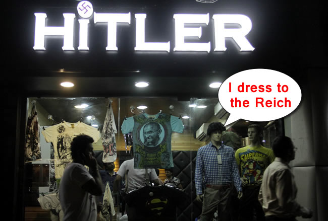PA 14404712 India fashion shop brings the Hitler label to the world